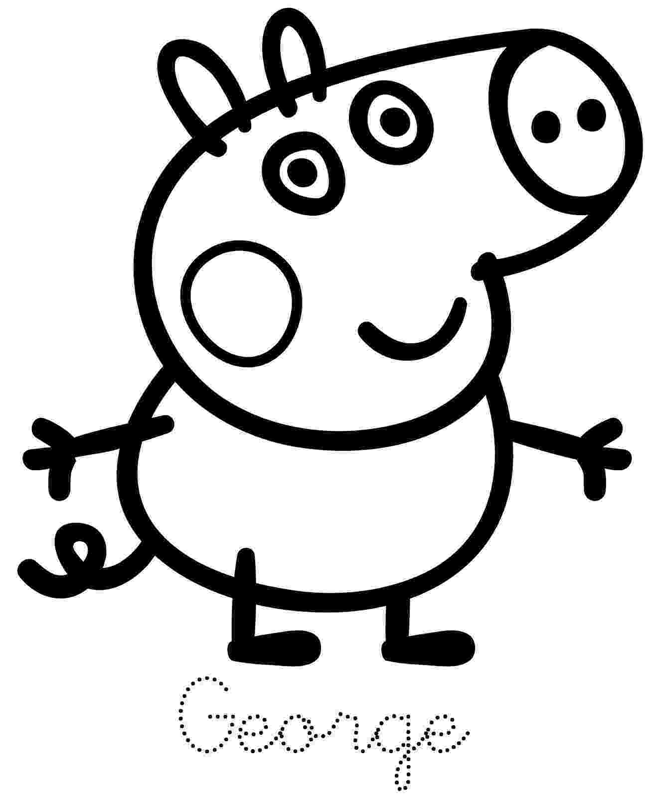 pepa pig coloring pages peppa pig george pig free printable coloring page coloring pig pepa pages
