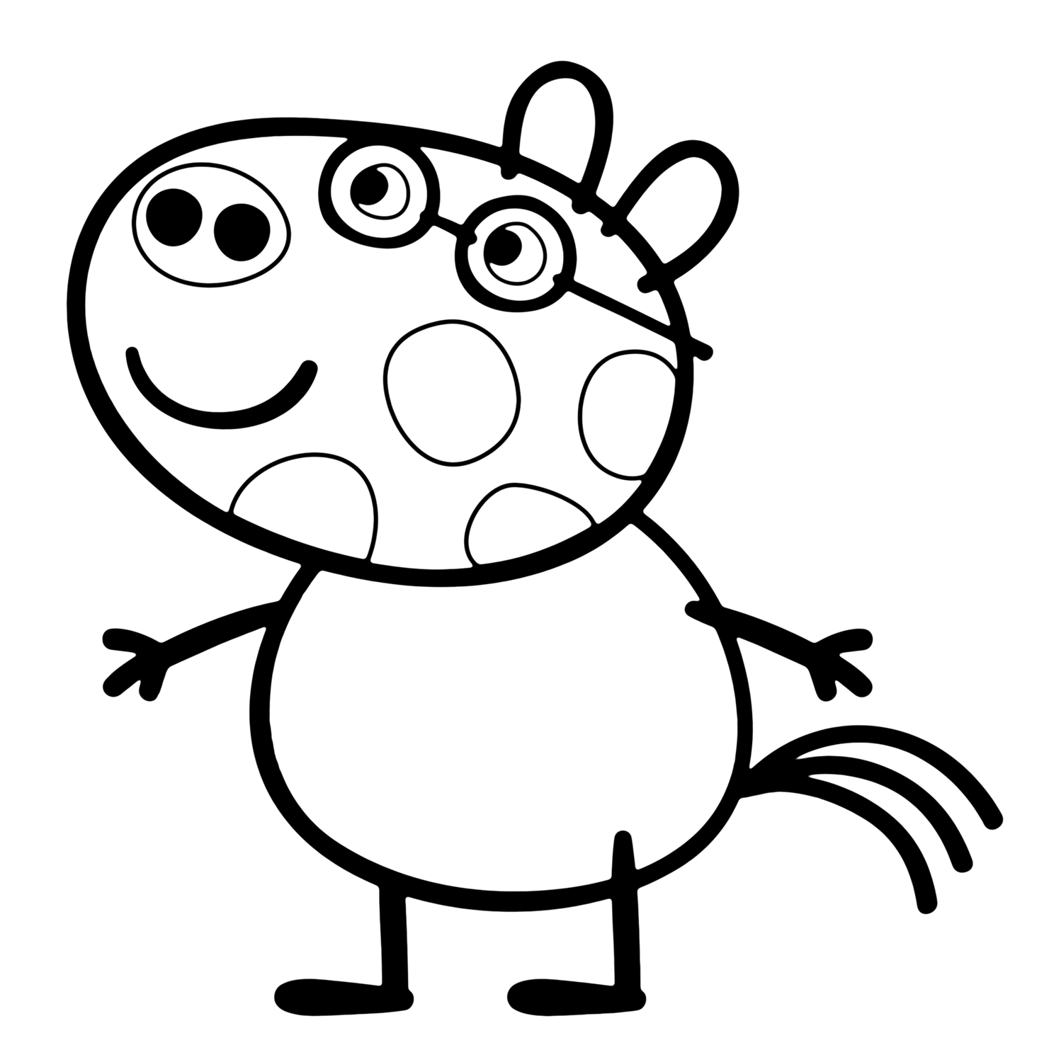 peppa pig color cartoon coloring pages momjunction color peppa pig