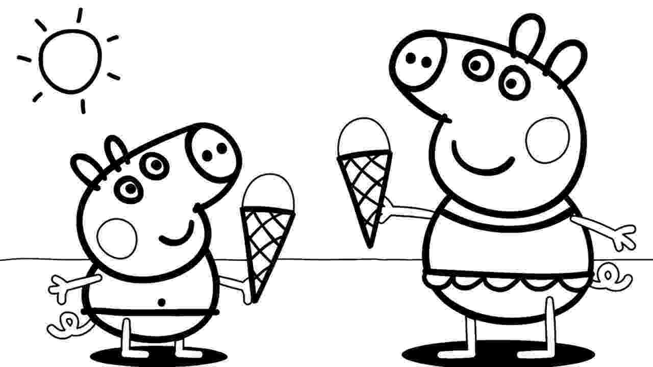 peppa pig color how to draw peppa pig playground coloring pages kids color peppa pig