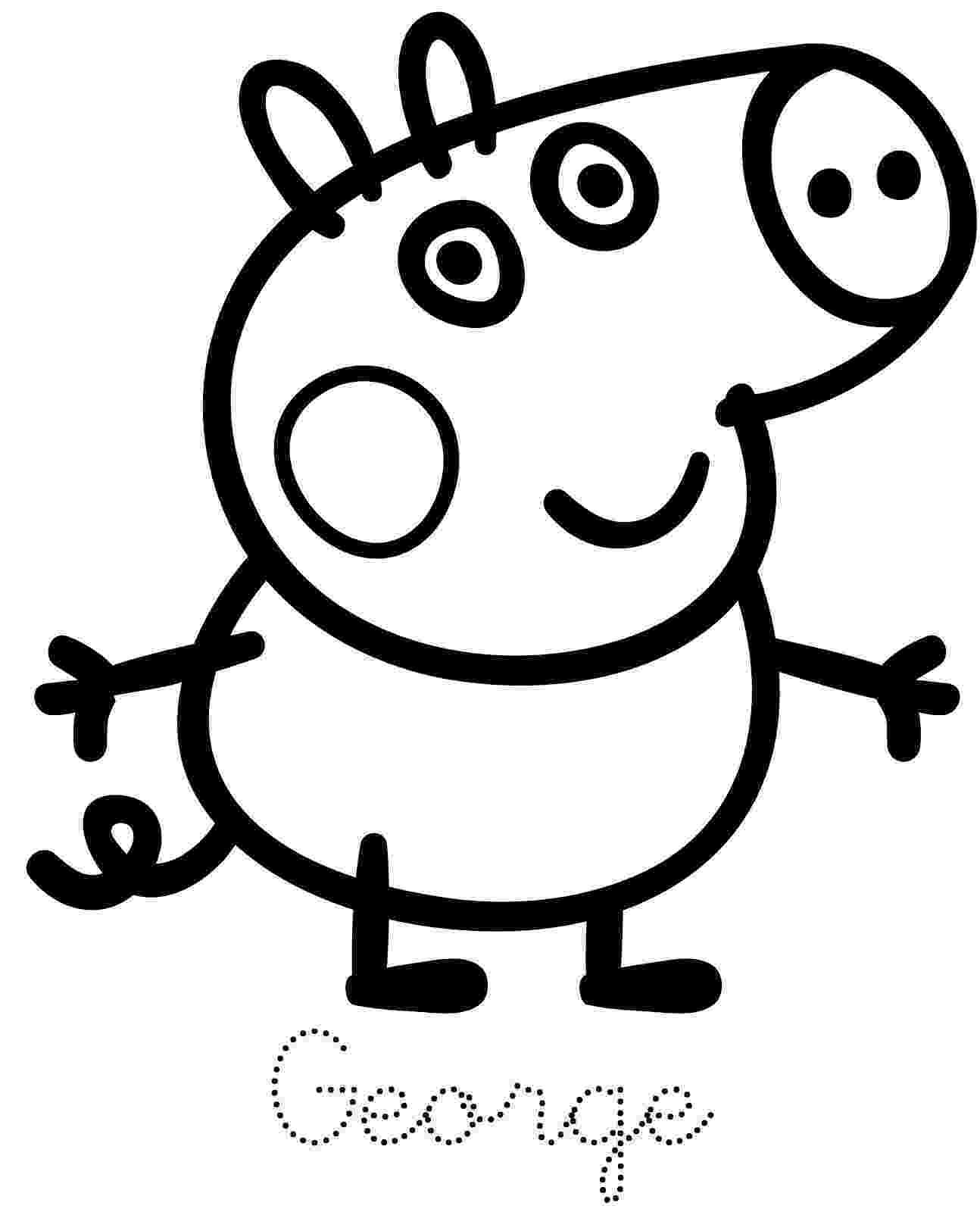 peppa pig color peppa pig coloring pages peppa pig coloring pages pig peppa color