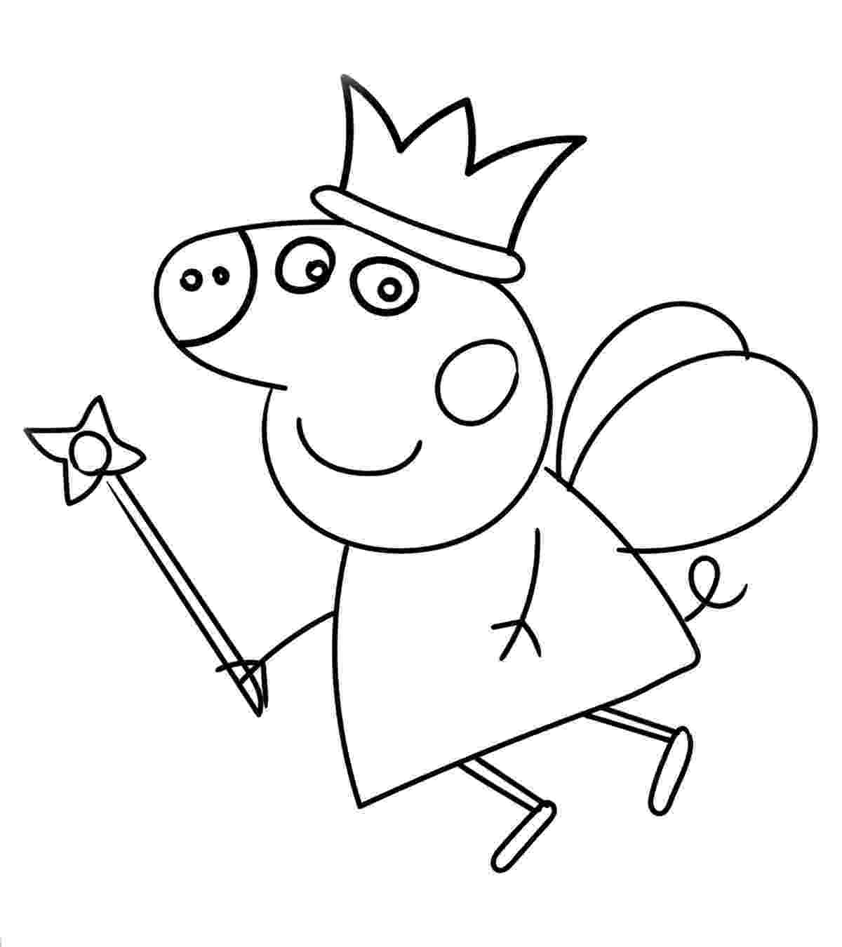 peppa pig color peppa pig coloring pages to print for free and color peppa color pig