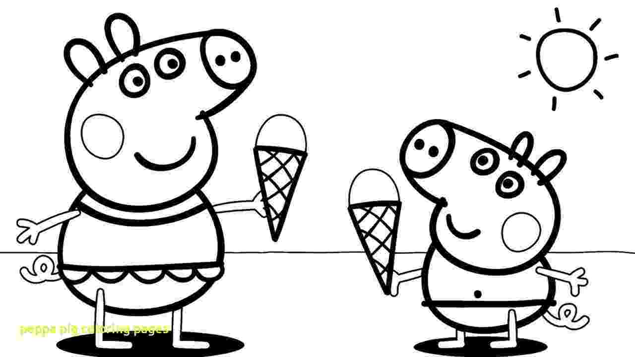 peppa pig color peppa pig coloring pages with peppa pig coloring page peppa color pig