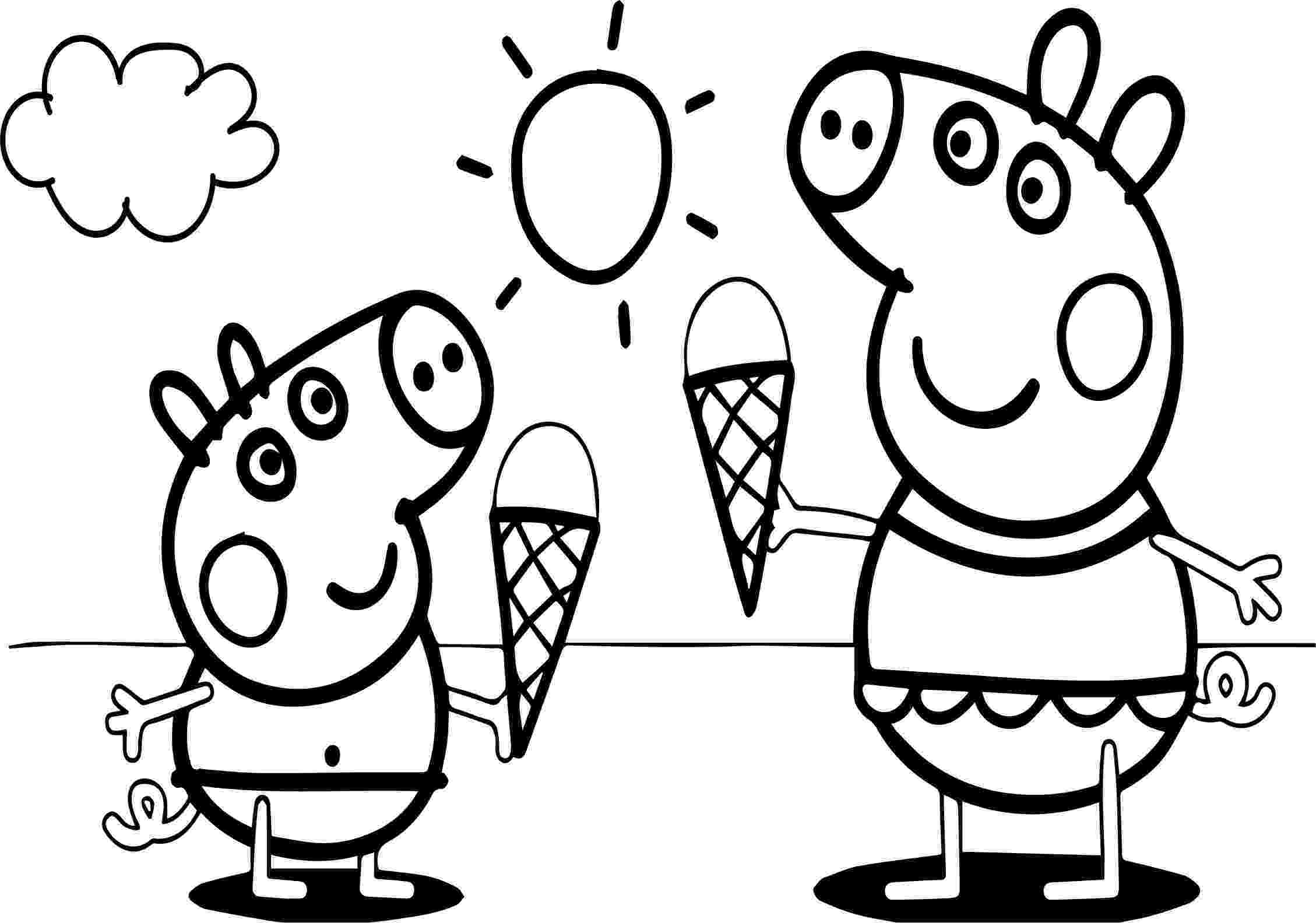 peppa pig color peppa pig family coloring pages coloring home peppa pig color