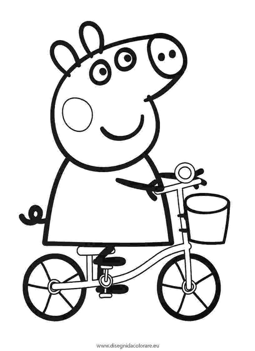 peppa pig color peppa pig family in car coloring pages learn colors with pig color peppa