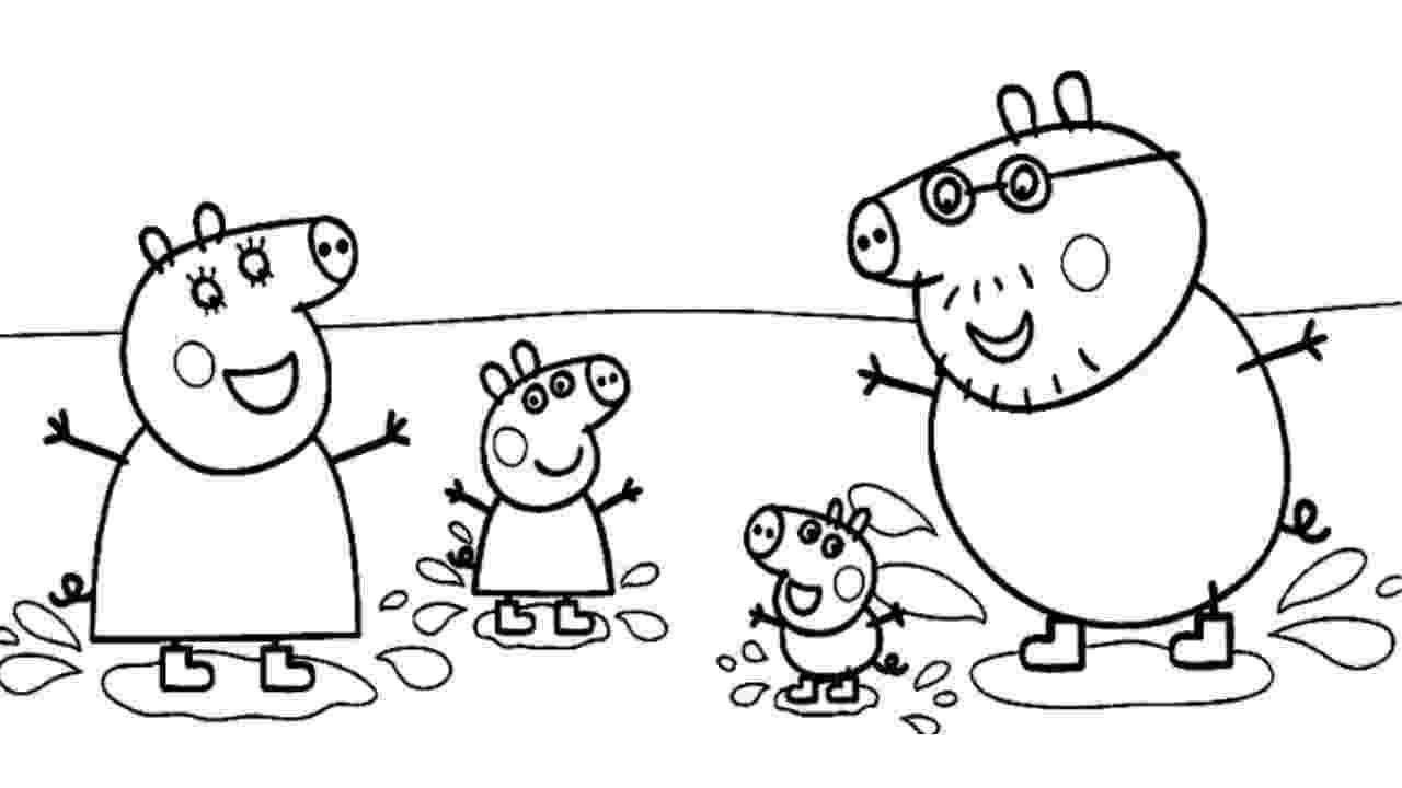 peppa pig color peppa pig video free coloring page wecoloringpagecom peppa pig color