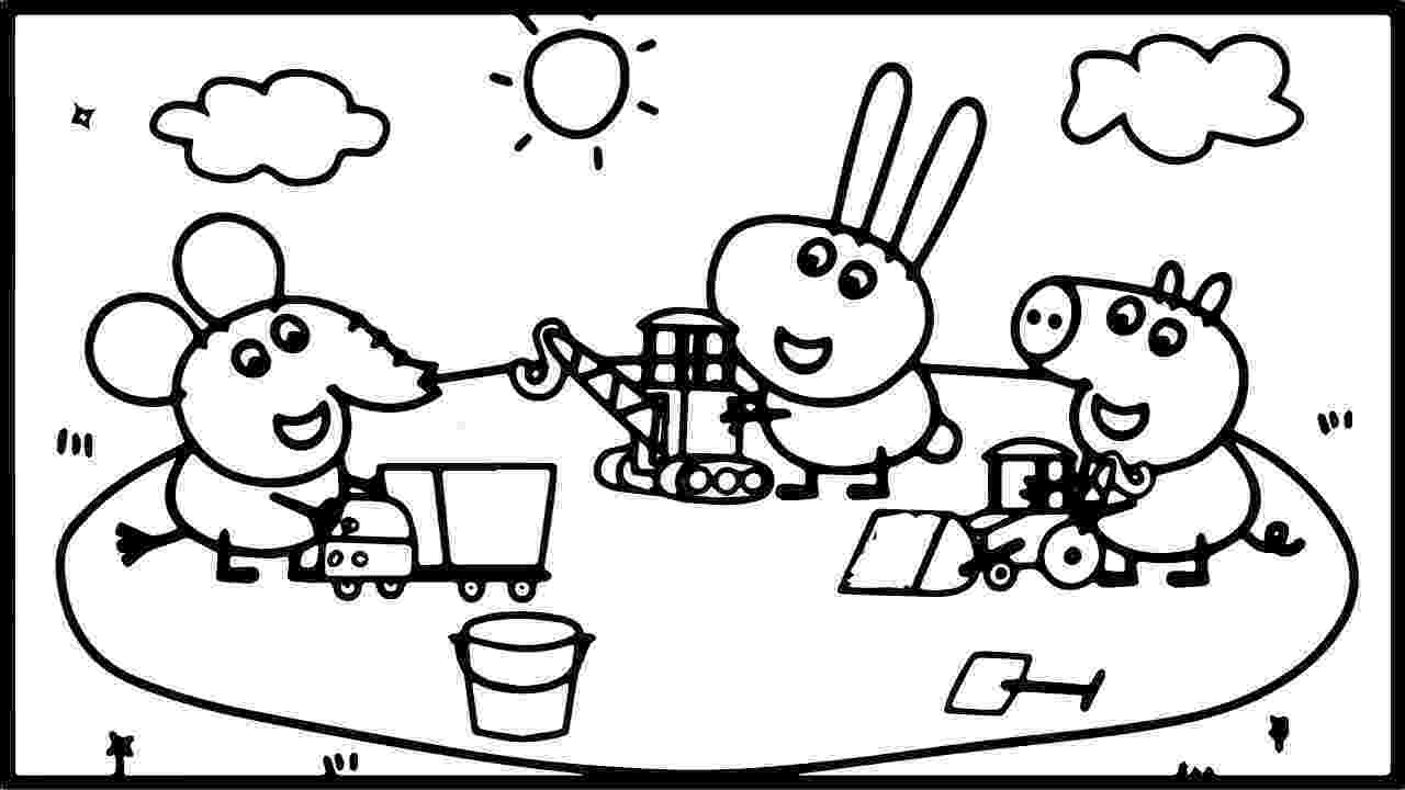 peppa pig color peppa pig with george and other coloring book coloring pig color peppa