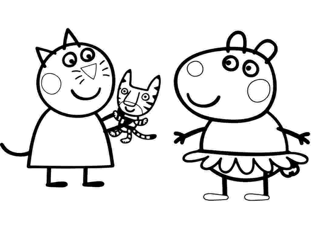 peppa pig color suzy sheep peppa pig coloring pages sketch coloring page peppa color pig