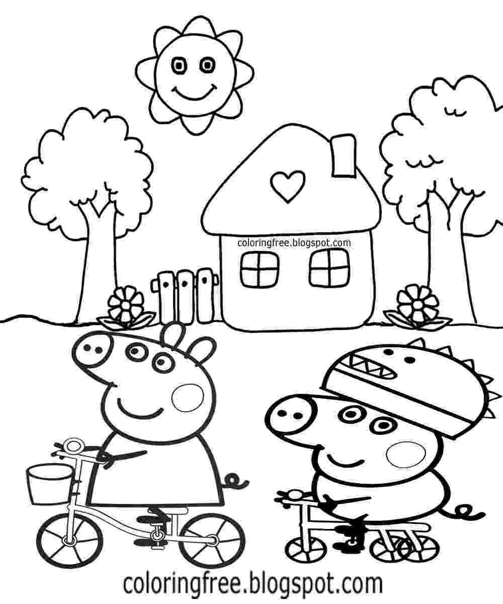 peppa pig coloring free coloring pages printable pictures to color kids peppa coloring pig