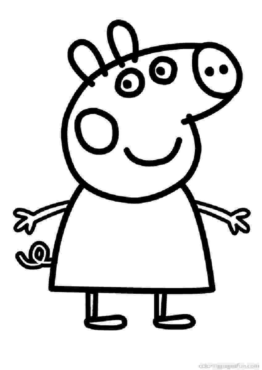 peppa pig coloring pages printable peppa pig coloring pages birthday printable printable pig peppa pages coloring