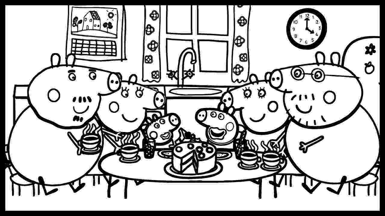 peppa pig coloring peppa pig and her friends photo portrait coloring book coloring pig peppa