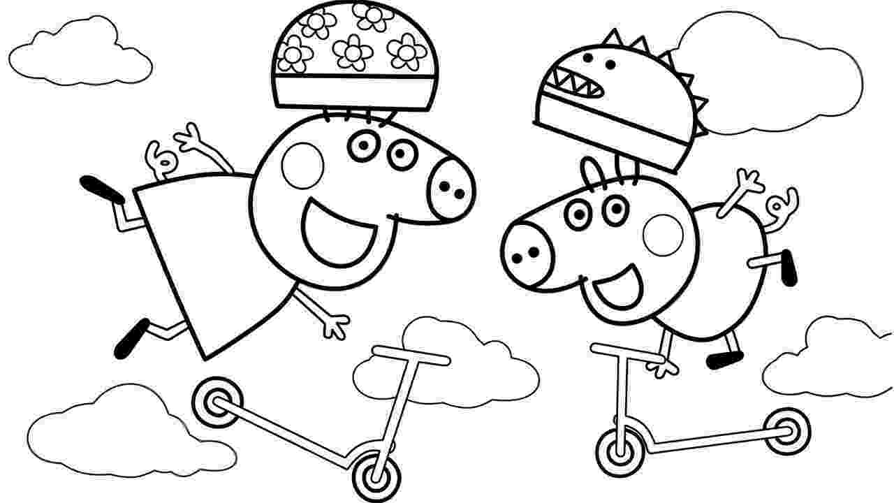 peppa pig coloring peppa with mummy coloring page free printable coloring pages coloring pig peppa