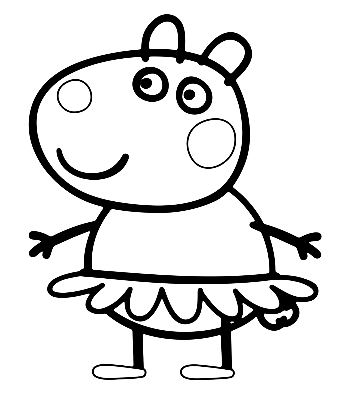 peppa pig colouring printables free printable peppa pig coloring pages at getdrawingscom colouring pig printables peppa
