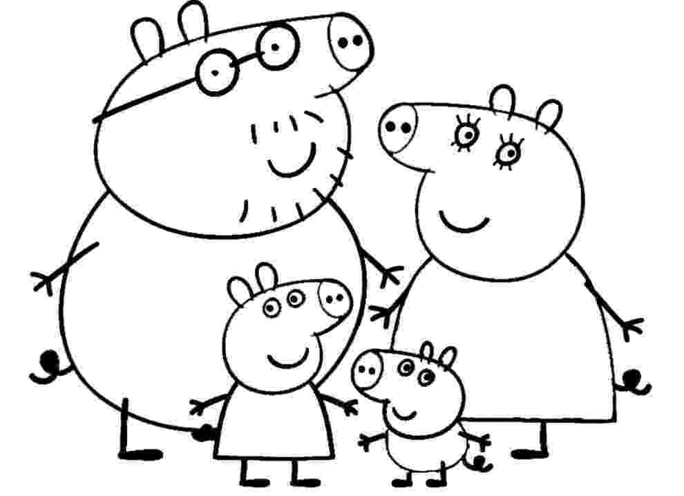 peppa pig colouring printables peppa pig coloring pages ecoloringpagecom printable peppa colouring pig printables