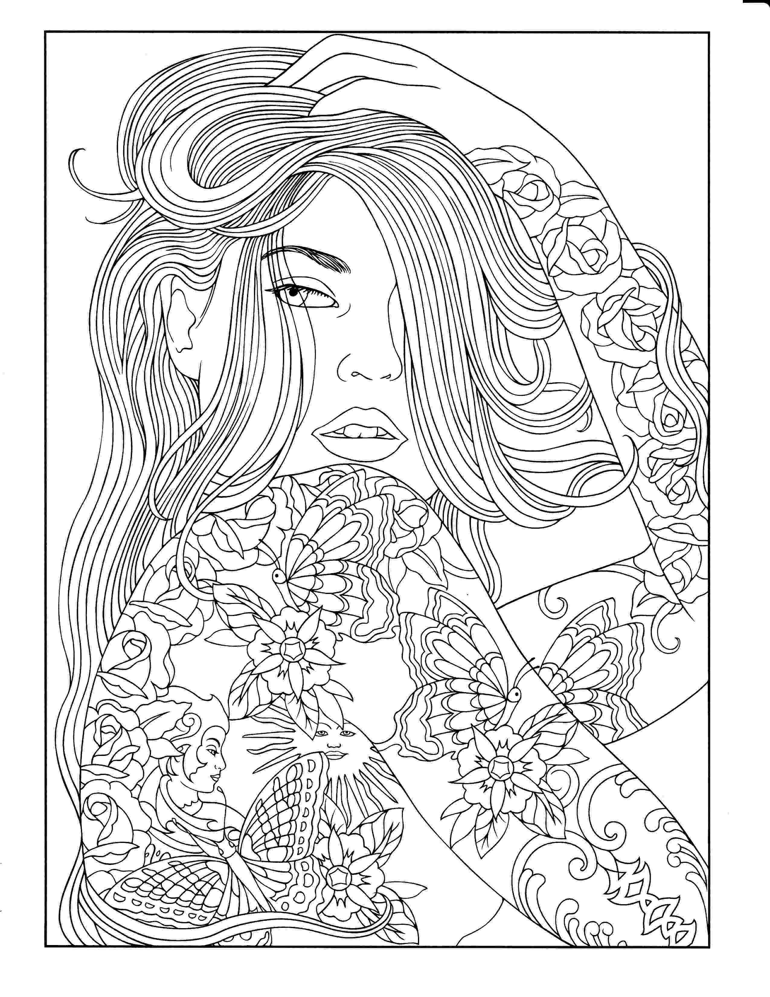 person coloring page beauty coloring page people coloring pages adult coloring page person