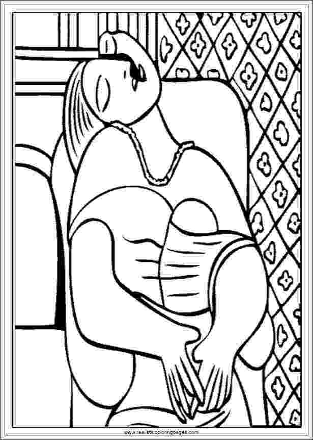 picasso coloring book arts of picasso printable coloring pages realistic picasso book coloring