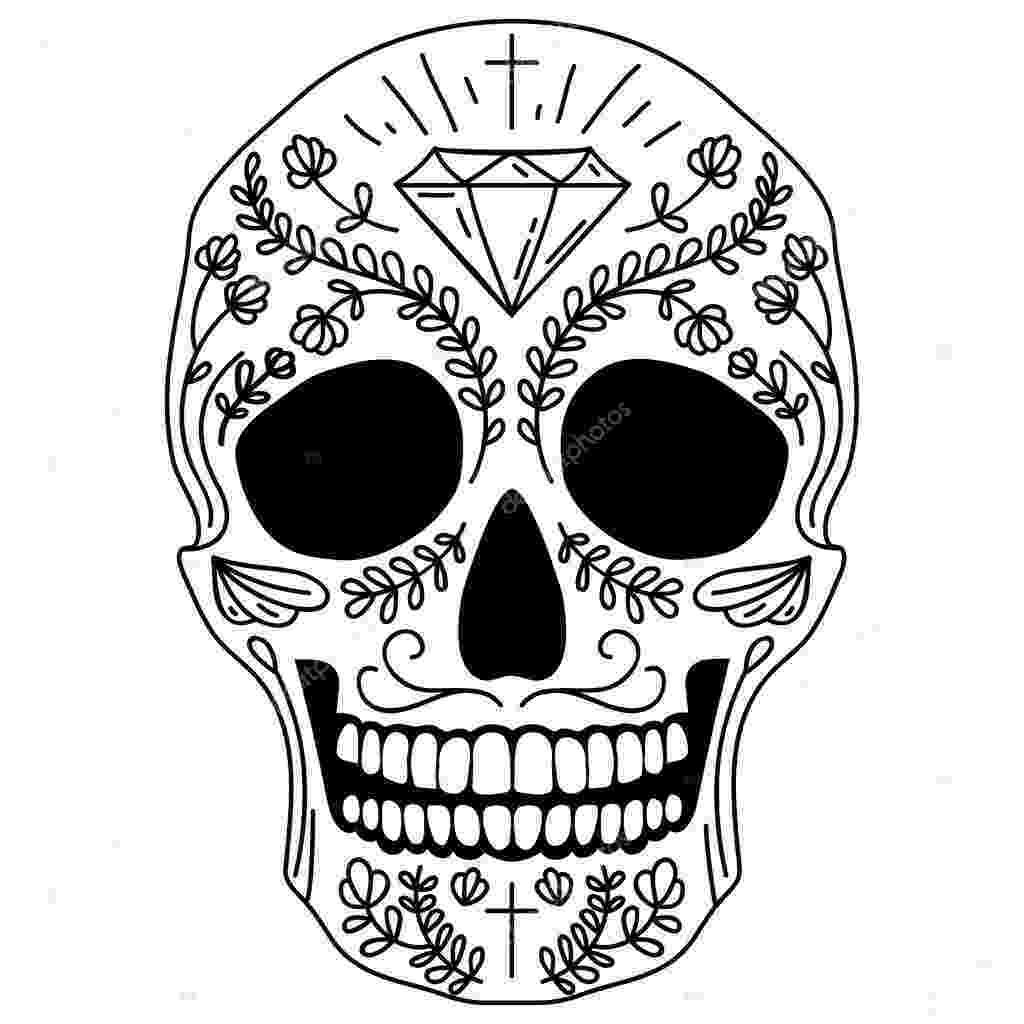 pics of sugar skulls black and white sugar skull stock vector korinoxe of sugar skulls pics