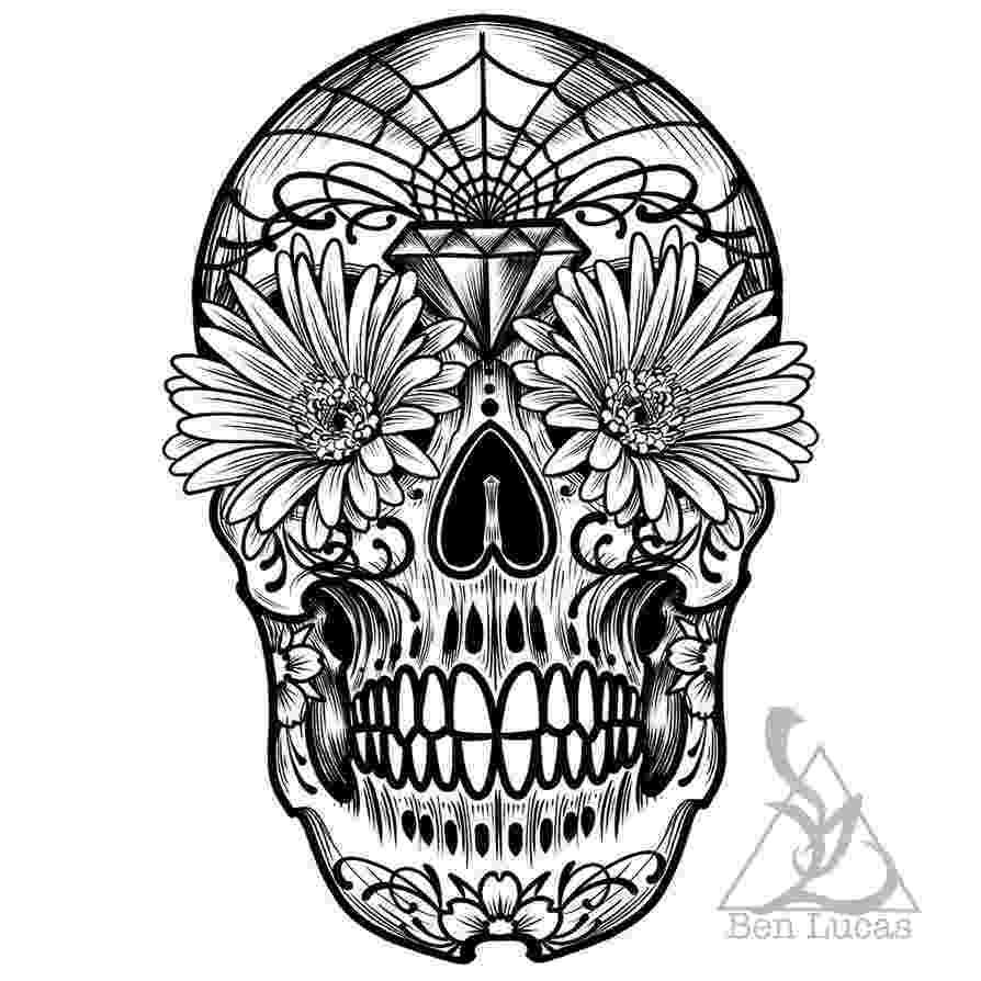 pics of sugar skulls day of the dead sugar skull outline by ben lucas sugar of skulls pics