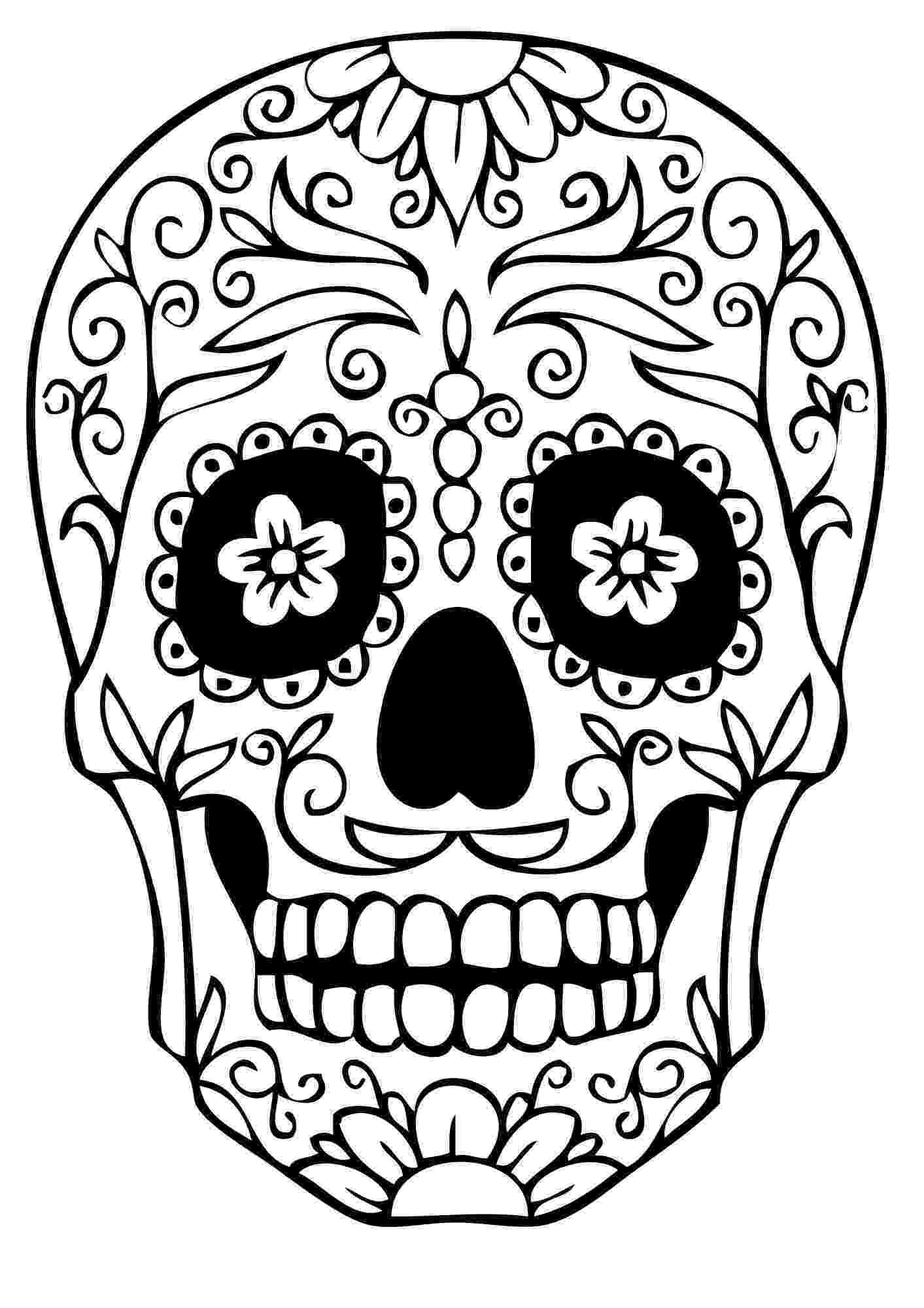 pics of sugar skulls print download sugar skull coloring pages to have pics of sugar skulls
