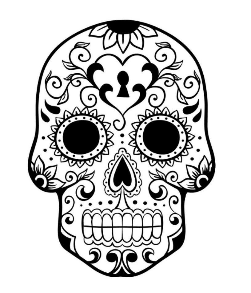 pics of sugar skulls printable skulls coloring pages for kids cool2bkids pics skulls sugar of