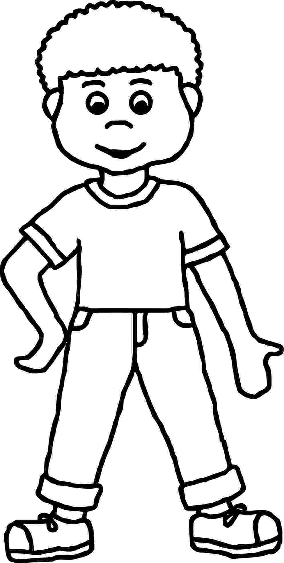 picture of a boy to color cartoon boy coloring page wecoloringpagecom to boy color picture of a