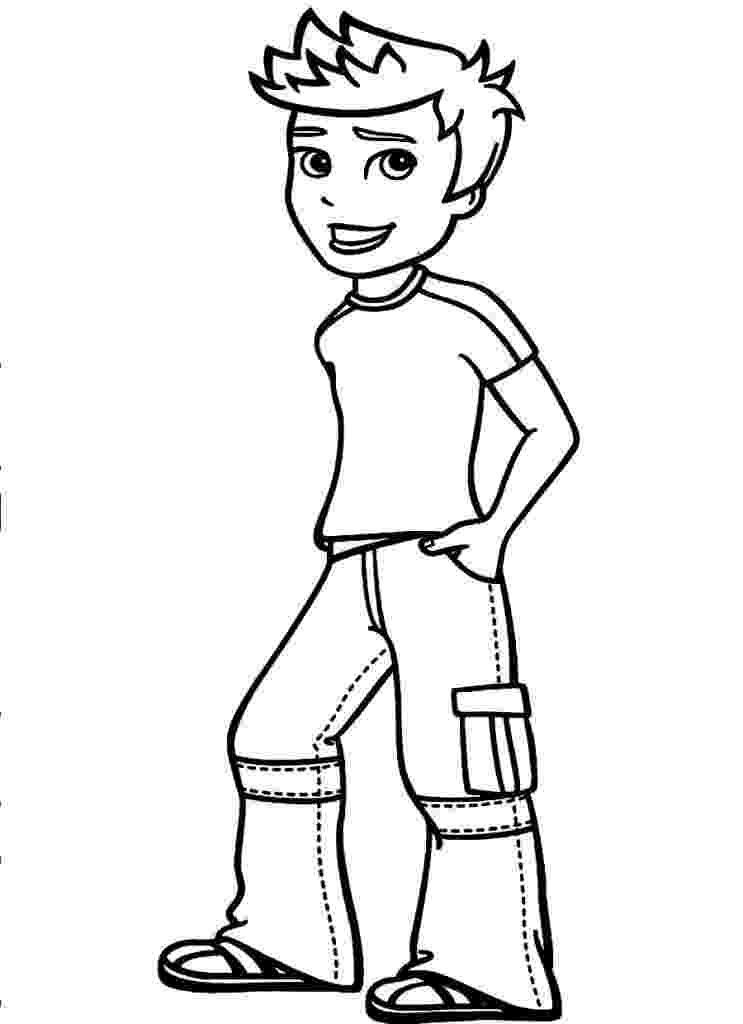 picture of a boy to color cartoon boy with hat coloring page wecoloringpagecom boy color a of picture to