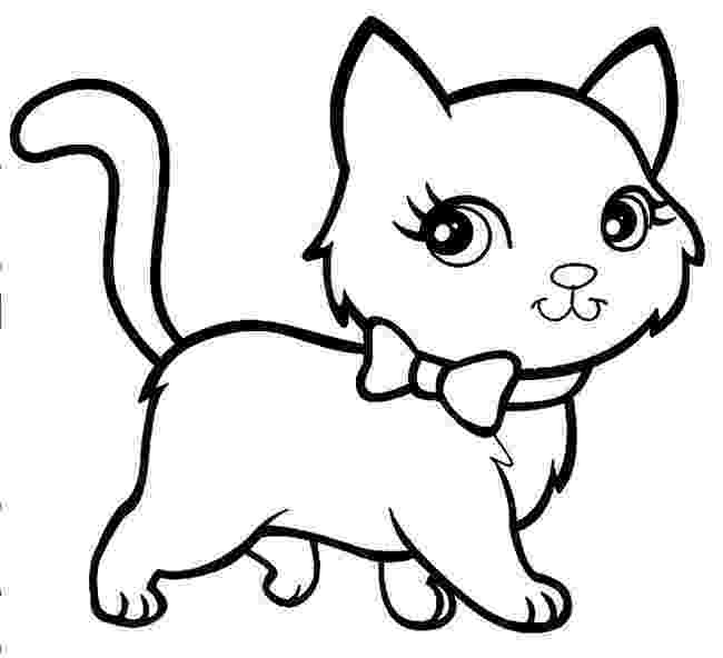 picture of a cat to color free printable kitten coloring pages for kids best a of color cat to picture