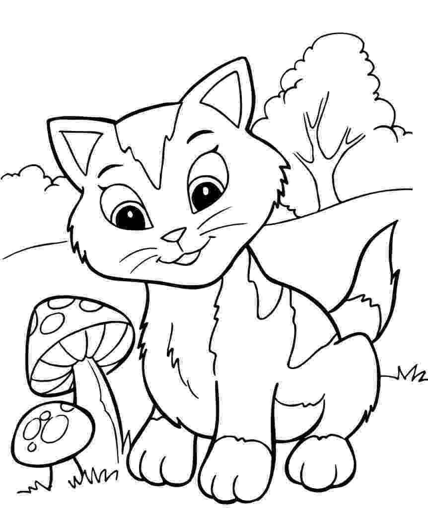 picture of a cat to color free printable kitten coloring pages for kids best cat a picture to of color