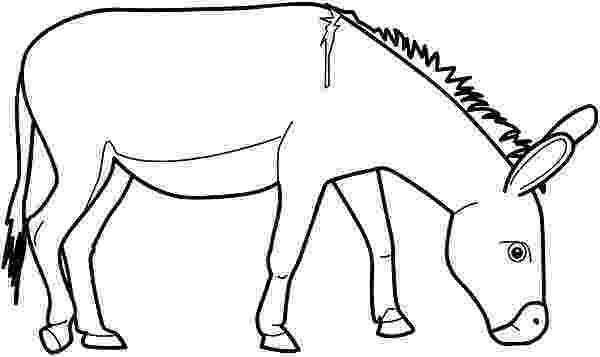picture of a donkey to color donkey coloring page getcoloringpagescom donkey to of a color picture