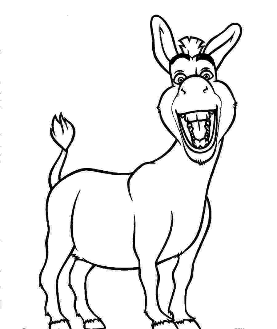 picture of a donkey to color donkey coloring page getcoloringpagescom of to a picture donkey color