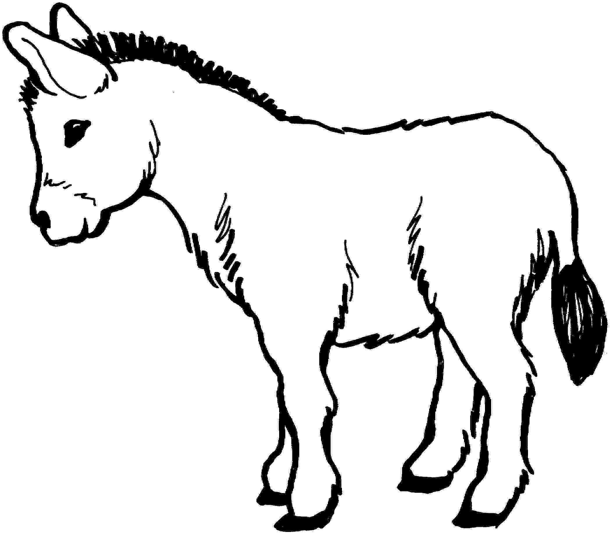 picture of a donkey to color donkey coloring pages kidsuki to a donkey color of picture