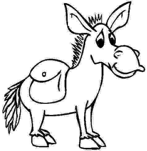 picture of a donkey to color donkey coloring pages of donkey to a picture color