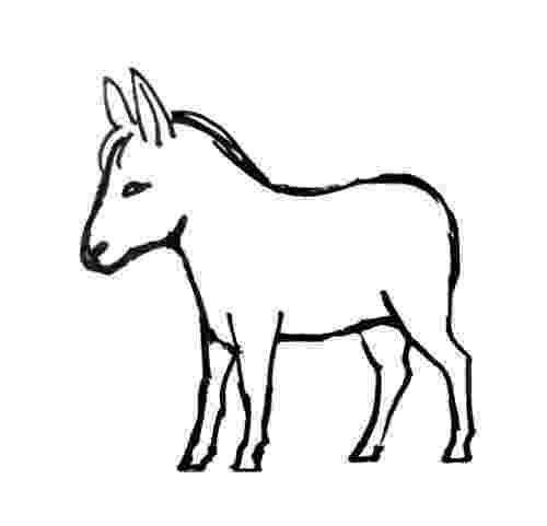 picture of a donkey to color donkey coloring pages printable sketch coloring page color donkey to of a picture