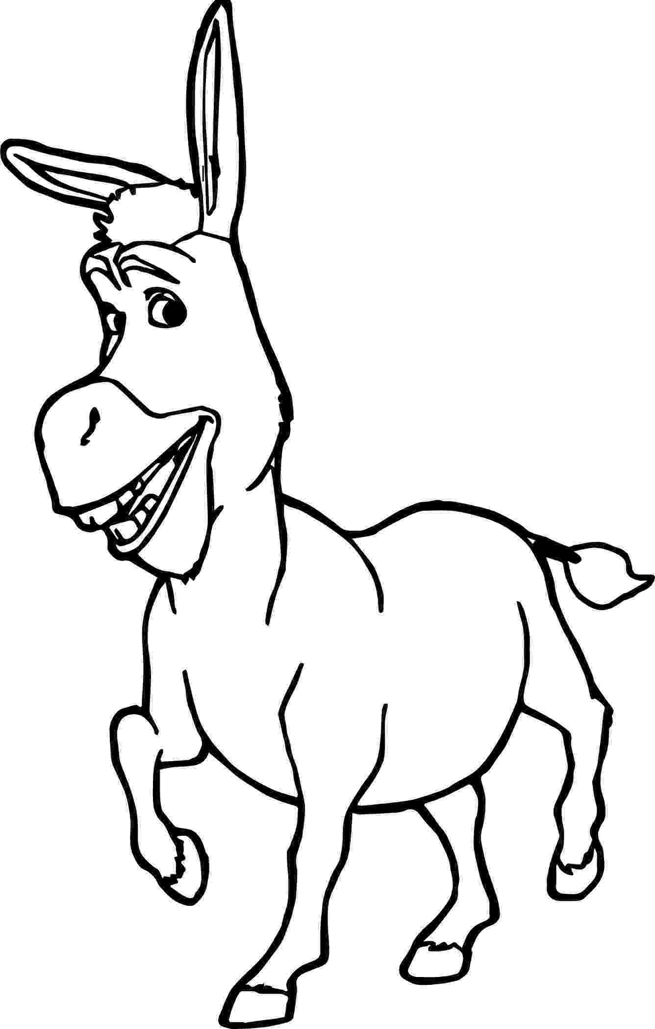 picture of a donkey to color donkey colouring page coloring page book for kids of a donkey to picture color