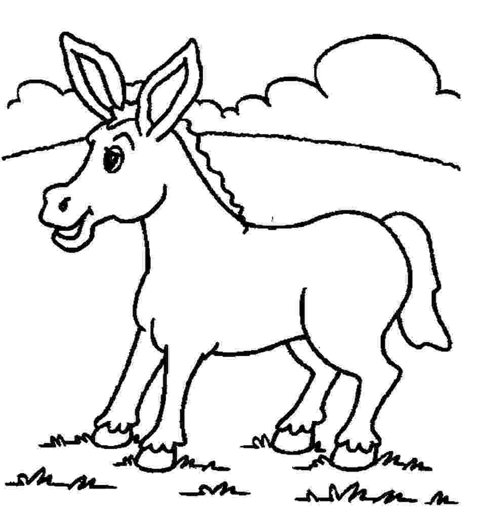 picture of a donkey to color donkey male donkey coloring pages color horses to color a of picture donkey