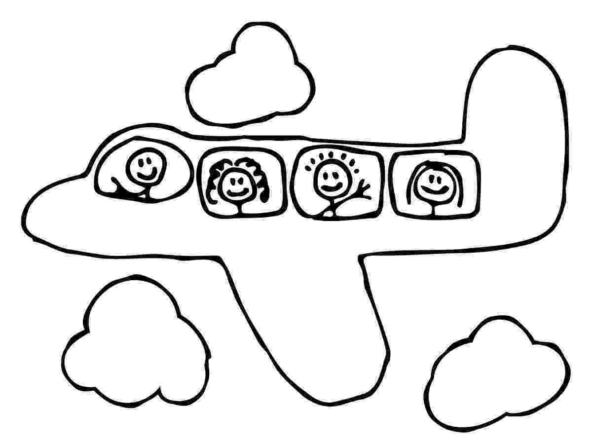 picture of an airplane to color free printable airplane coloring pages for kids an color picture of to airplane