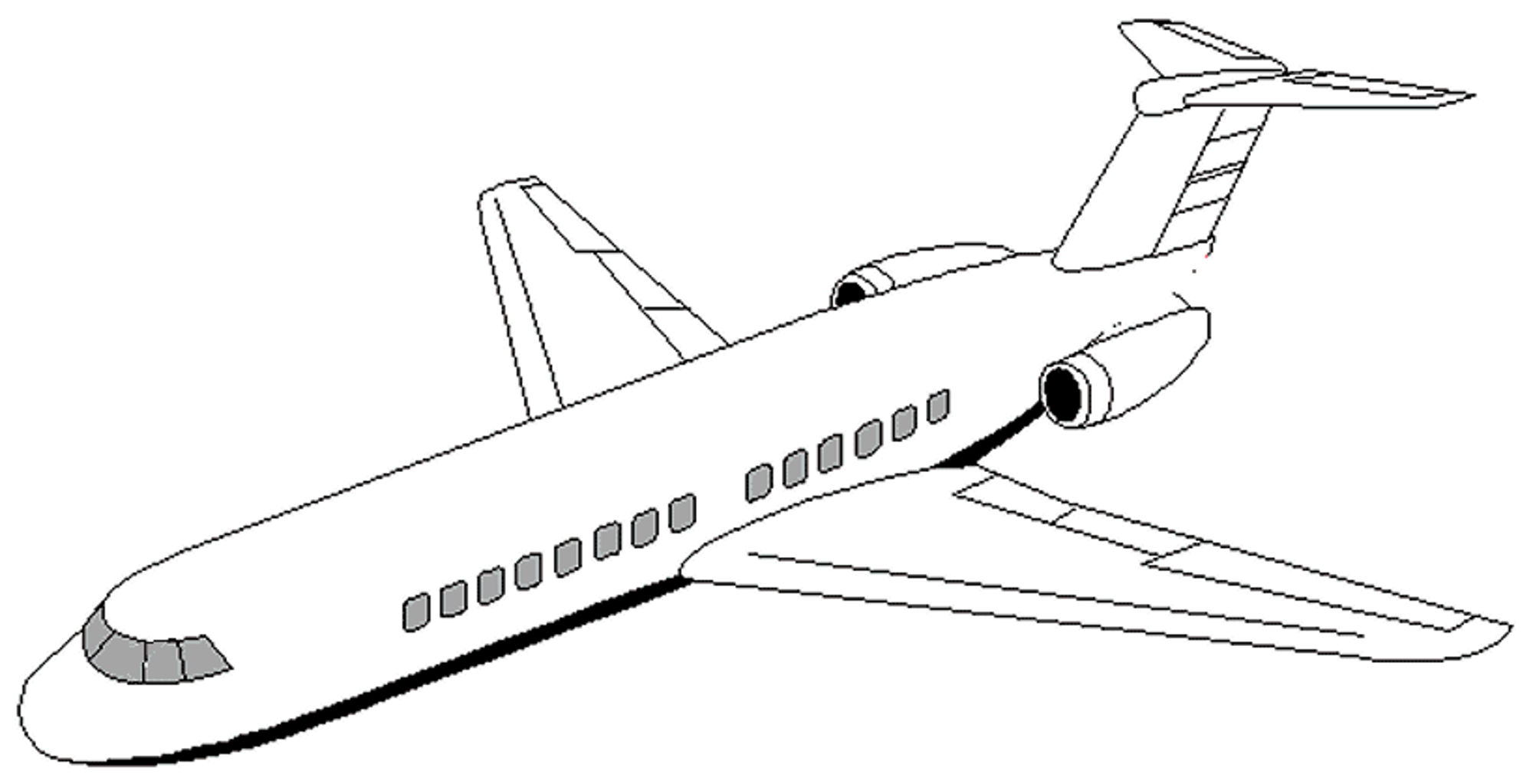 picture of an airplane to color free printable airplane coloring pages for kids cool2bkids an color of picture to airplane