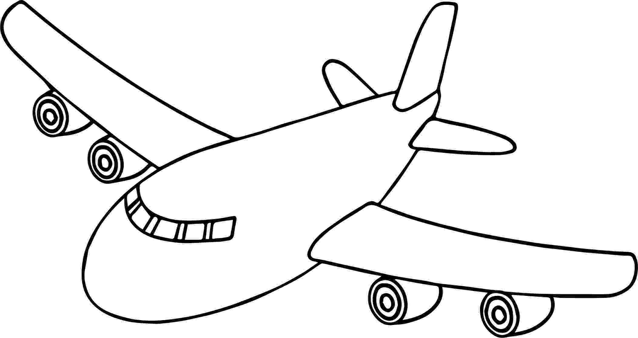 picture of an airplane to color front airplane coloring page airplane coloring pages picture to color an airplane of