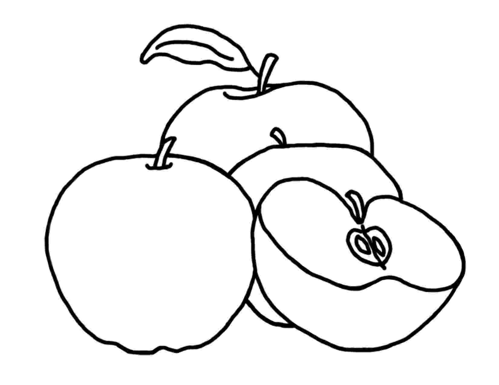 picture of apples apple coloring pages for preschoolers 360coloringpages apples picture of