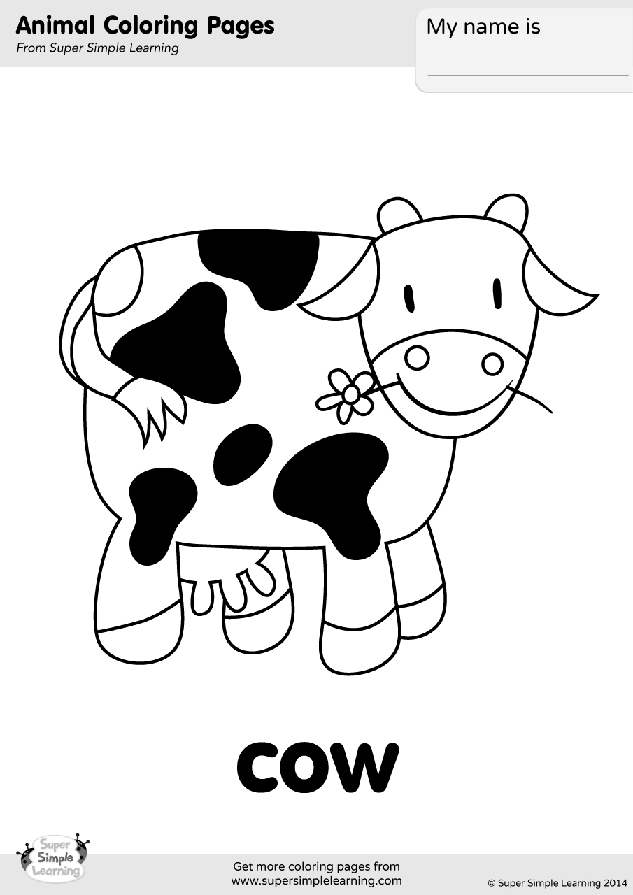 picture of cow for colouring cow coloring page super simple picture for of colouring cow