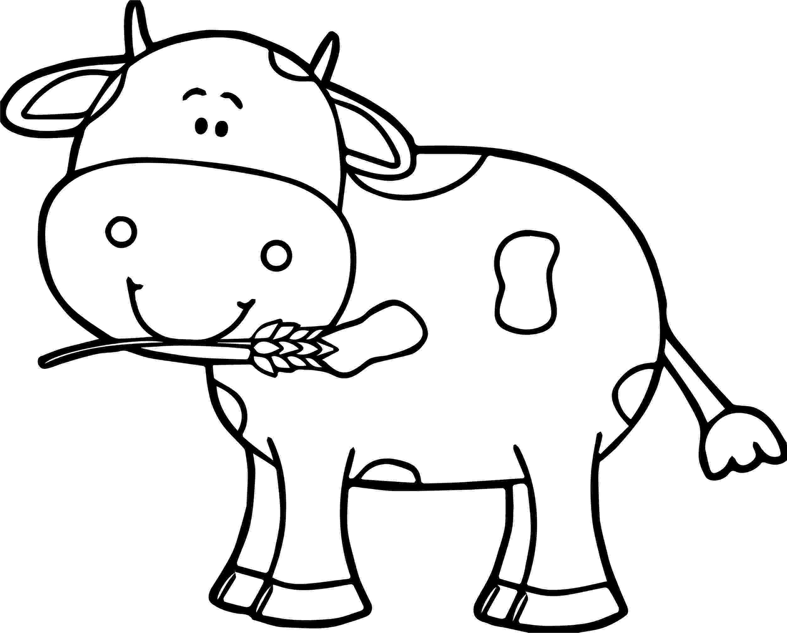 picture of cow for colouring cow to colour in colouring of cow picture for