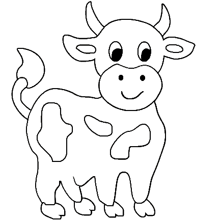 picture of cow for colouring cute cow animal coloring books for kids drawing picture for of cow colouring