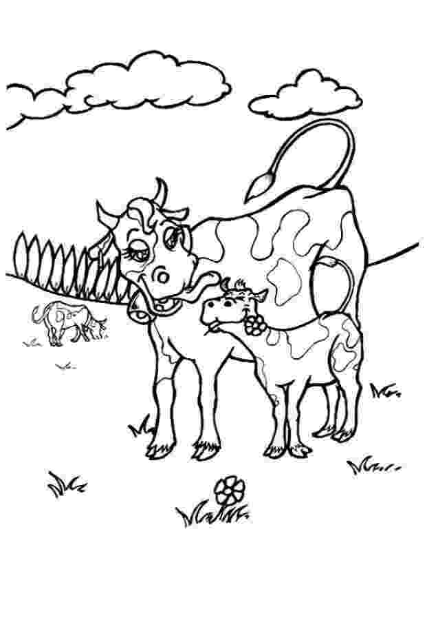 picture of cow for colouring free printable cow coloring pages for kids of picture cow for colouring
