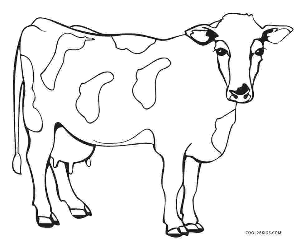 picture of cow for colouring free printable cow coloring pages for kids picture cow for colouring of