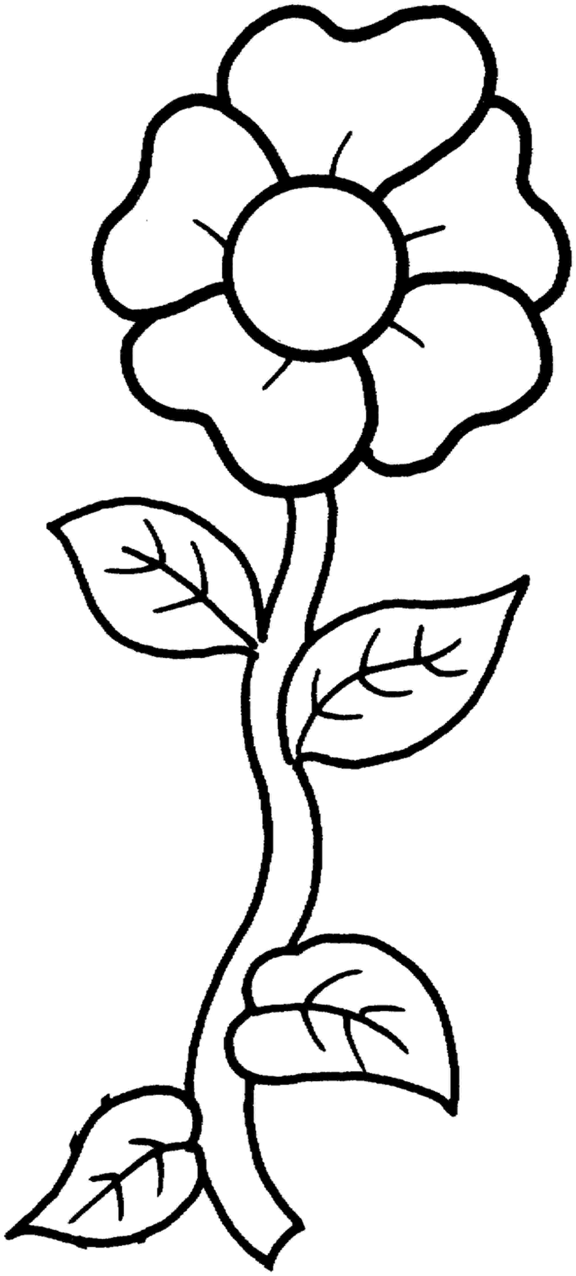 picture of flower for colouring free printable flower coloring pages for kids best for colouring picture of flower
