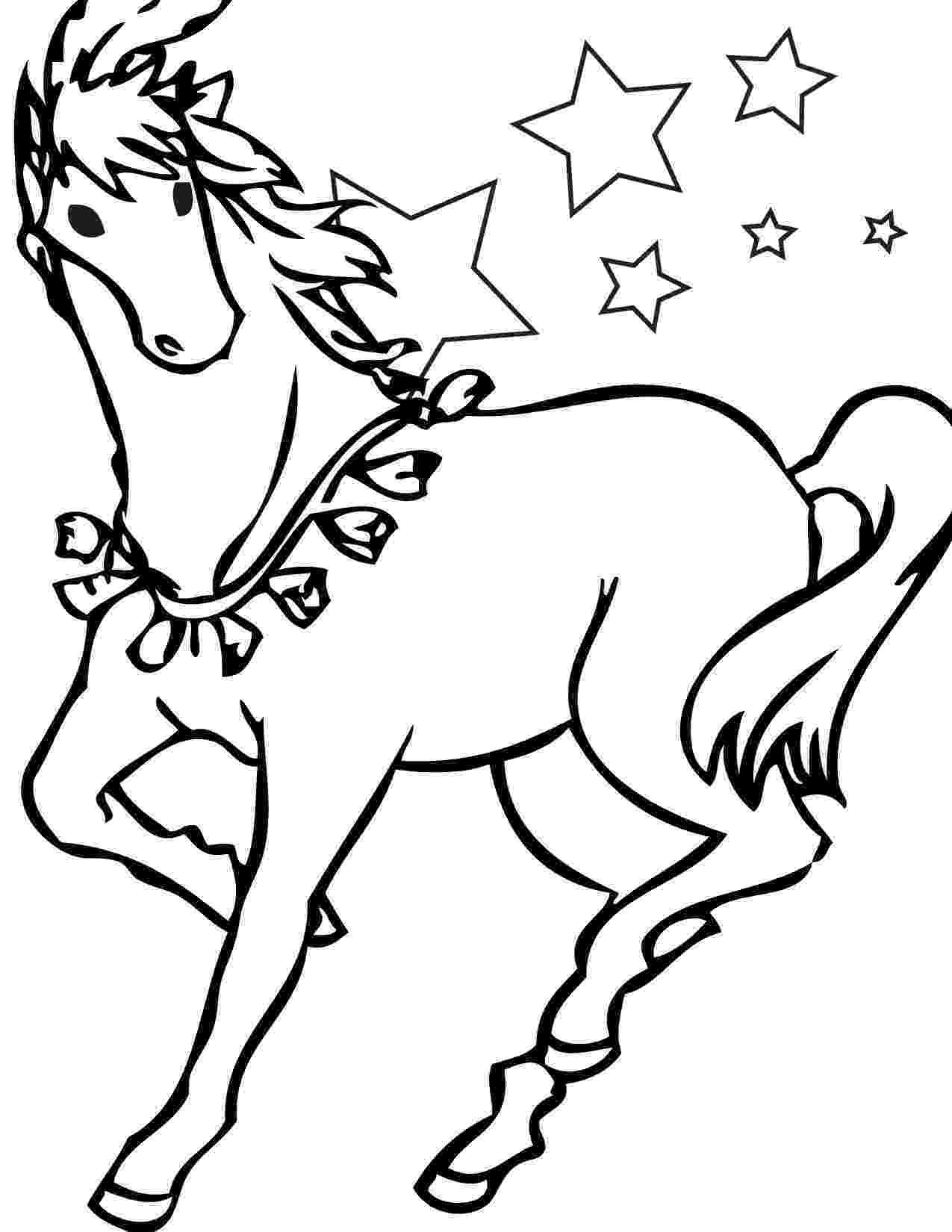 picture of horses to color horse and rider pictures clipartsco picture of color to horses