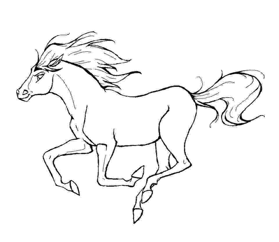 picture of horses to color horse coloring pages preschool and kindergarten horses of color picture to