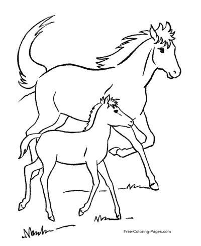picture of horses to color horse pictures for kids printable activity shelter picture of to color horses