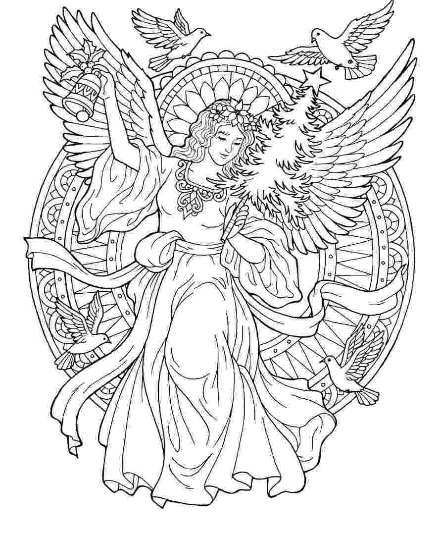 pictures of angels to color 8th christmas drawing angels color to of pictures
