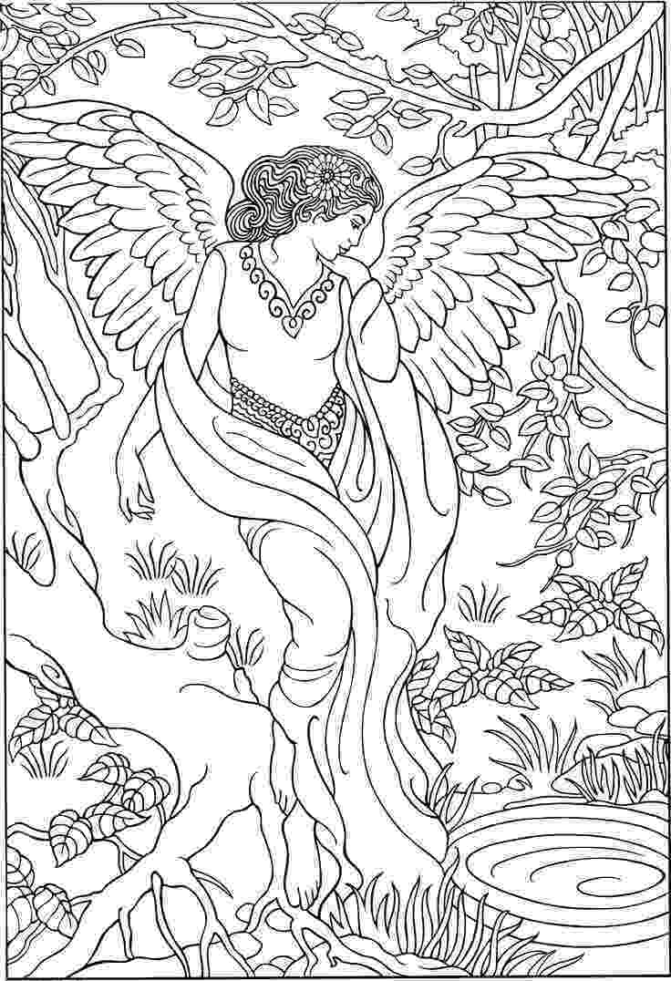 pictures of angels to color beautiful angel coloring page adult colouringfairies color of to angels pictures