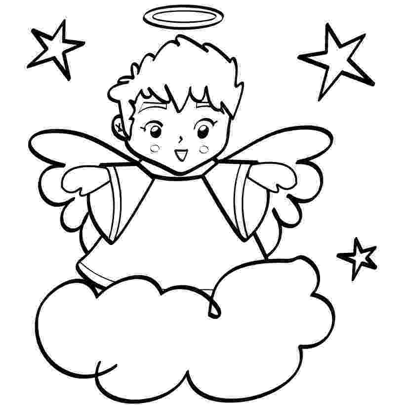 pictures of angels to color free christmas coloring pages retro angels the of color pictures angels to